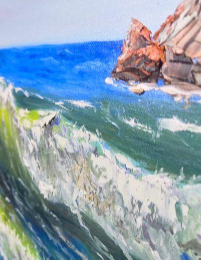 Sun sea painting