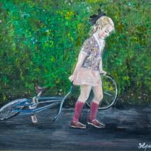 girl on paint