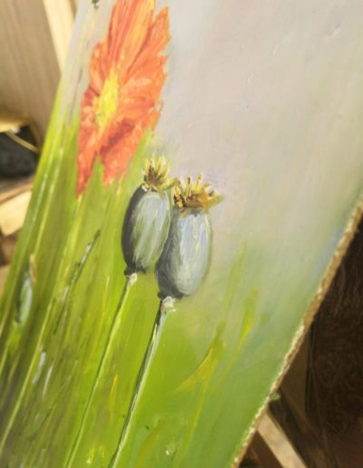 floral oil color painting