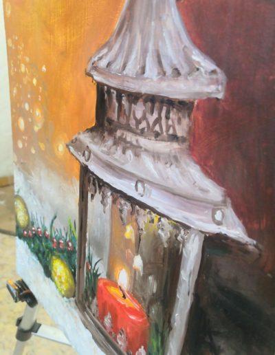 winter painting ideas