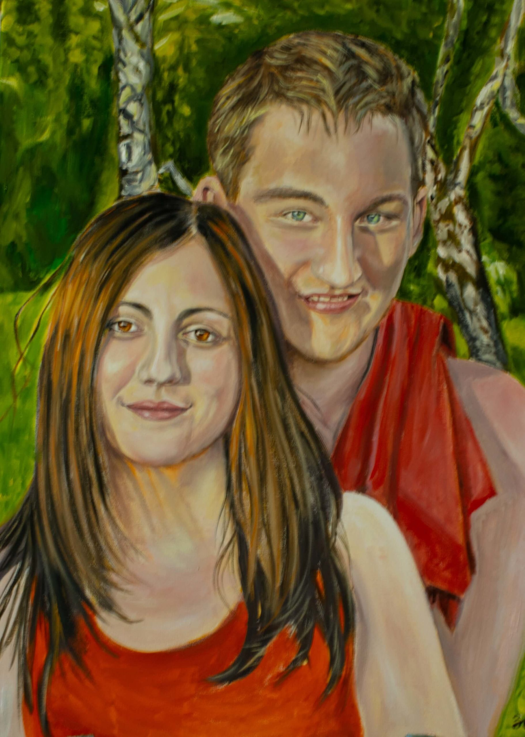 Portrait of a young couple